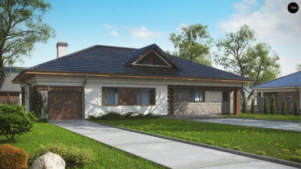 Фото 1 - Z153 GL - Версия дома Z153 с гаражом, встроенным в корпус здания.