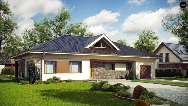 Фото 1 - Z153 - Проект просторного одноэтажного дома с 4 спальнями.
