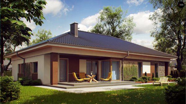 Фото 2 - Z153 - Проект просторного одноэтажного дома с 4 спальнями.