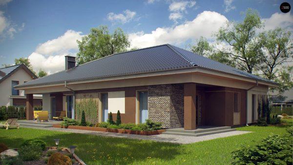 Фото 3 - Z153 - Проект просторного одноэтажного дома с 4 спальнями.