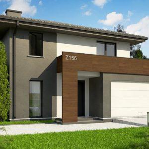 Фото 9 - Z156 A minus - Уменьшенная версия проекта z156 с гаражем и стильным фасадом.