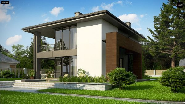 Фото 3 - Z156 A minus - Уменьшенная версия проекта z156 с гаражем и стильным фасадом.