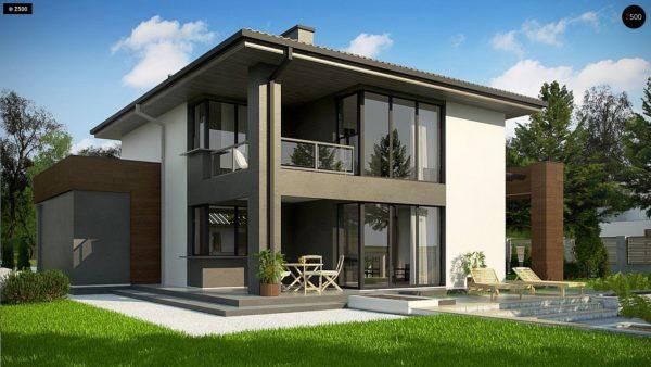 Фото 4 - Z156 A minus - Уменьшенная версия проекта z156 с гаражем и стильным фасадом.