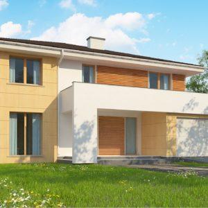 Фото 8 - Z156 A - Проект комфортабельного двухэтажного коттеджа современного дизайна.