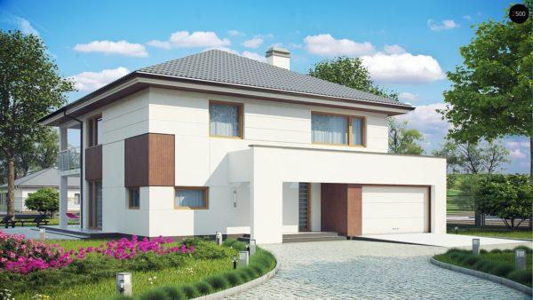 Фото 1 - Z156 - Элегантный комфортабельный двухэтажный дом с современными элементами архитектуры.