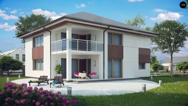 Фото 2 - Z156 - Элегантный комфортабельный двухэтажный дом с современными элементами архитектуры.