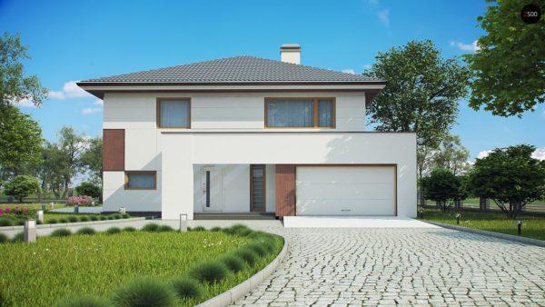 Фото 3 - Z156 - Элегантный комфортабельный двухэтажный дом с современными элементами архитектуры.