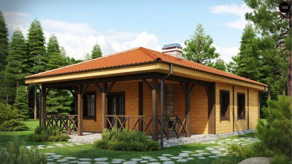 Фото 1 - Z16 dk - Аккуратный одноэтажный дом с деревянной облицовкой фасадов, адаптированный для каркасной технологии.
