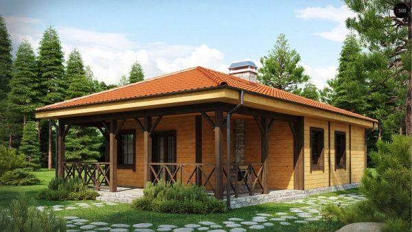 Фото 1 - Z16 - Компактный одноэтажный дом с большой крытой террасой.