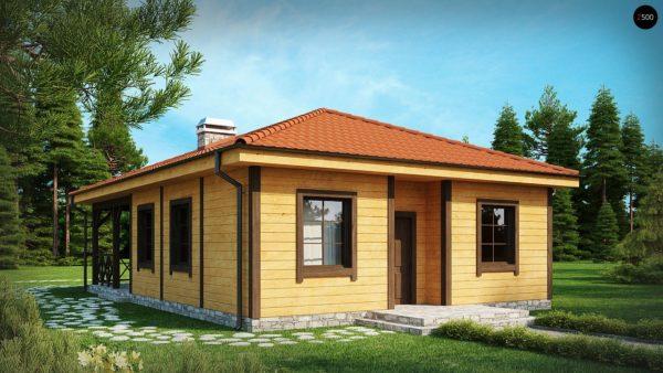 Фото 2 - Z16 - Компактный одноэтажный дом с большой крытой террасой.