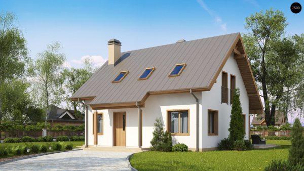 Фото 1 - Z162 v3 - Один из вариантов проекта мансардного дома  Z162 V3.