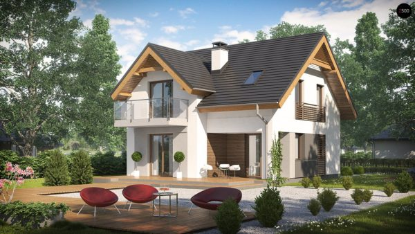 Фото 2 - Z163 - Небольшой стильный и практичный дом с мансардными окнами.