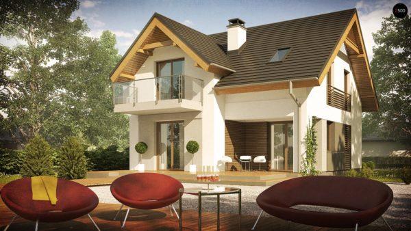 Фото 3 - Z163 - Небольшой стильный и практичный дом с мансардными окнами.