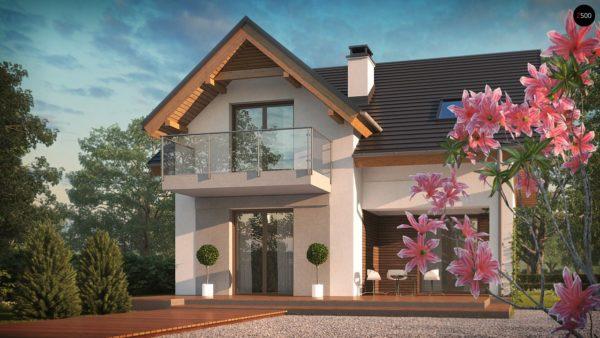 Фото 4 - Z163 - Небольшой стильный и практичный дом с мансардными окнами.