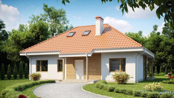 Фото 2 - Z169 - Одноэтажный дом в традиционном стиле с возможностью обустройства чердачного помещения.