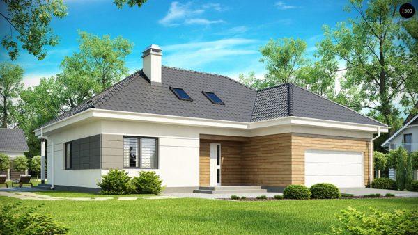 Фото 1 - Z173 - Просторный дом традиционной формы с гаражом и дополнительной небольшой ночной зоной на первом этаже.