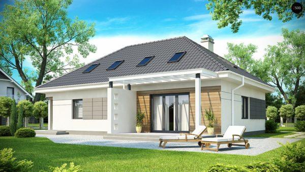 Фото 2 - Z173 - Просторный дом традиционной формы с гаражом и дополнительной небольшой ночной зоной на первом этаже.