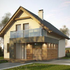 Фото 17 - Z174 - Компактный и удобный дом традиционной формы, подходящий, также, для узкого участка.