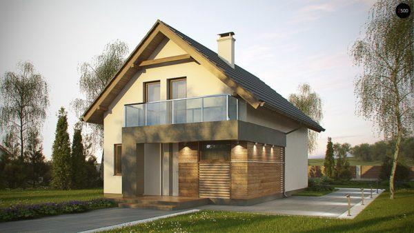 Фото 1 - Z174 - Компактный и удобный дом традиционной формы, подходящий, также, для узкого участка.