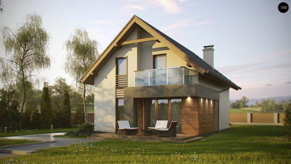 Фото 2 - Z174 - Компактный и удобный дом традиционной формы, подходящий, также, для узкого участка.
