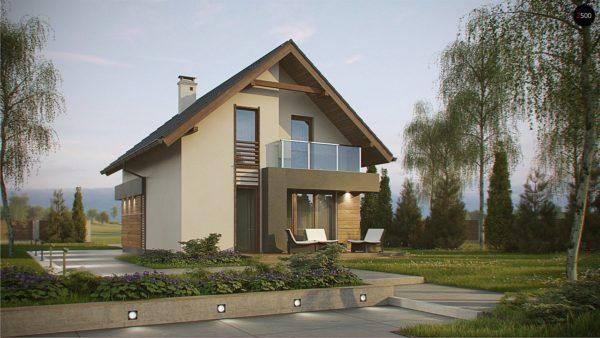 Фото 3 - Z174 - Компактный и удобный дом традиционной формы, подходящий, также, для узкого участка.