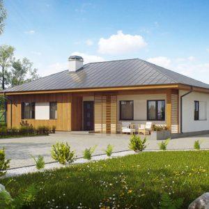 Фото 4 - Z176 - Практичный одноэтажный дом традиционной формы с многоскатной крышей.