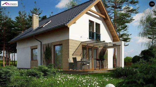Фото 1 - Z177 + - Проект мансардного дома с 4 спальнями и кабинетом.