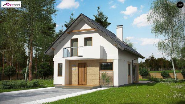 Фото 3 - Z177 + - Проект мансардного дома с 4 спальнями и кабинетом.