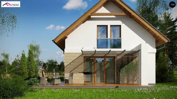 Фото 4 - Z177 + - Проект мансардного дома с 4 спальнями и кабинетом.