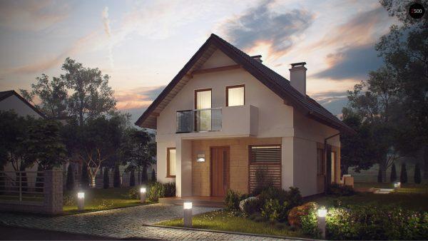 Фото 1 - Z177 - Аккуратный, практичный дом, также для узкого участка.