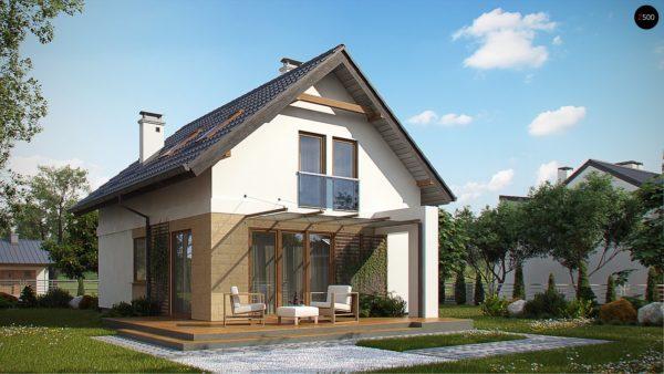 Фото 2 - Z177 - Аккуратный, практичный дом, также для узкого участка.