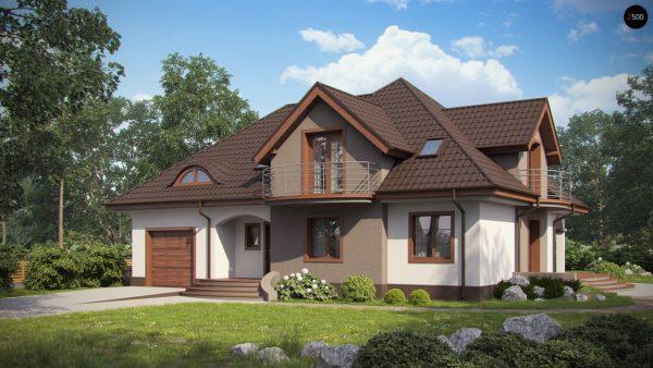 Фото 1 - Z18 GL bk - Версия проекта Z18 со встроенным гаражом с левой стороны дома.