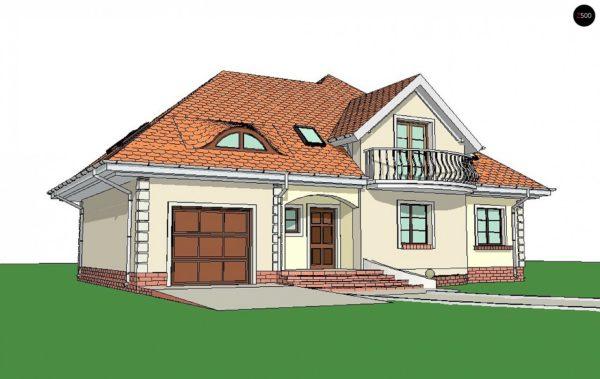Фото 3 - Z18 GL bk - Версия проекта Z18 со встроенным гаражом с левой стороны дома.