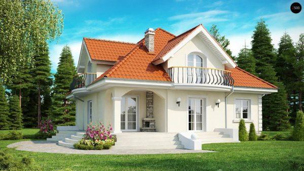 Фото 1 - Z18 - Элегантный классический дом с изящными мансардными окнами и балконами.