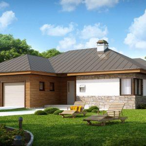 Фото 18 - Z180 - Стильный одноэтажный дом с гаражом для двух автомобилей.
