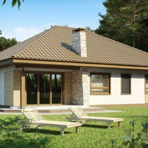 Фото 20 - Z19 - Одноэтажный удобный дом с фронтальным гаражом, с возможностью обустройства мансарды.