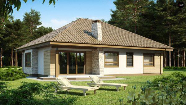 Фото 1 - Z19 - Одноэтажный удобный дом с фронтальным гаражом, с возможностью обустройства мансарды.