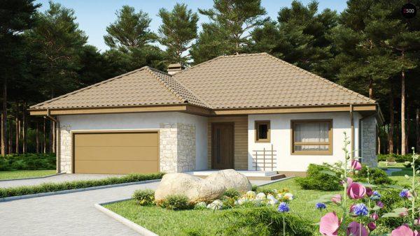 Фото 2 - Z19 - Одноэтажный удобный дом с фронтальным гаражом, с возможностью обустройства мансарды.