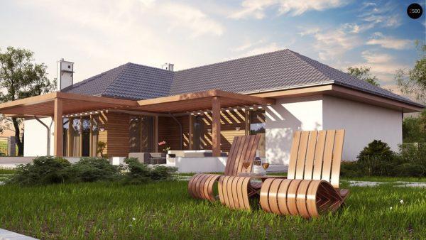 Фото 3 - Z190 - Проект комфортного одноэтажного дома с фронтальным гаражом для двух машин.