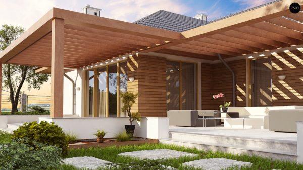 Фото 4 - Z190 - Проект комфортного одноэтажного дома с фронтальным гаражом для двух машин.