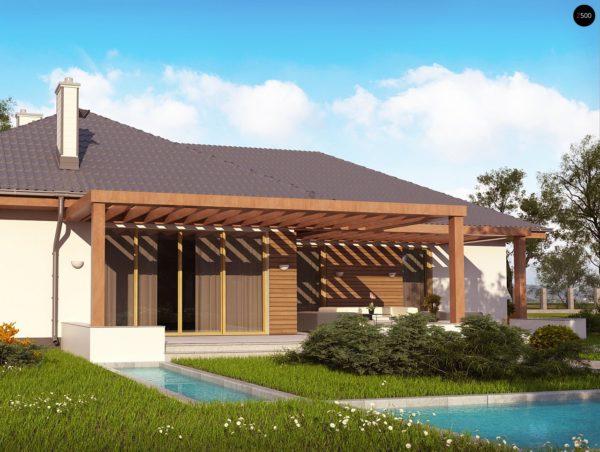 Фото 6 - Z190 - Проект комфортного одноэтажного дома с фронтальным гаражом для двух машин.