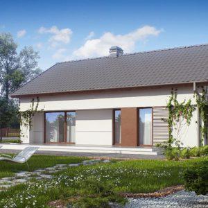 Фото 6 - Z191 - Компактный одноэтажный дом простой формы с возможностью обустройства чердачного помещения.