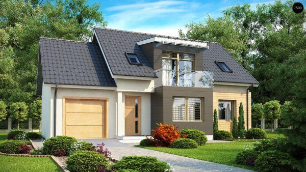 Фото 1 - Z192 - Проект дома с гаражом, с возможностью его использования в качестве двухсемейного.