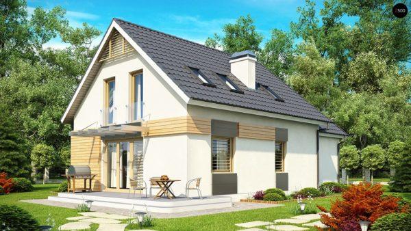 Фото 2 - Z192 - Проект дома с гаражом, с возможностью его использования в качестве двухсемейного.
