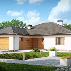 Фото 24 - Z199 v1 - Версия одноэтажного дома Z199 с измененной планировкой.