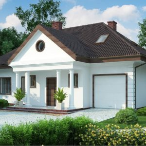 Фото 13 - Z2 A - Проект дома в классическом стиле с роскошной мансардой и стильным экстерьером.