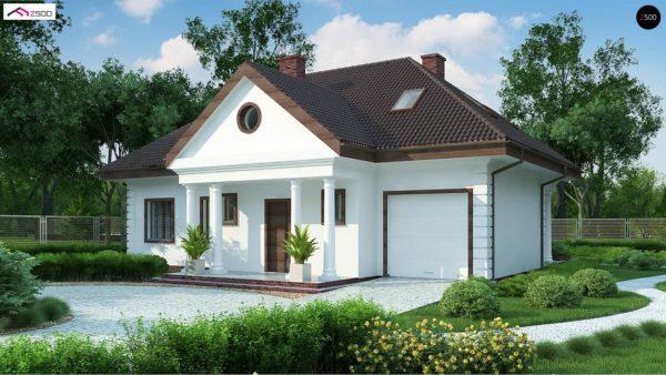 Фото 1 - Z2 A - Проект дома в классическом стиле с роскошной мансардой и стильным экстерьером.