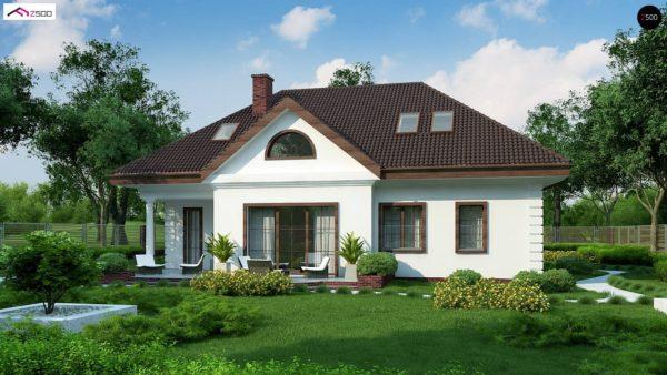 Фото 2 - Z2 A - Проект дома в классическом стиле с роскошной мансардой и стильным экстерьером.