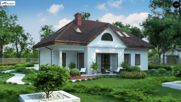 Фото 3 - Z2 A - Проект дома в классическом стиле с роскошной мансардой и стильным экстерьером.