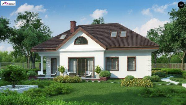 Фото 4 - Z2 A - Проект дома в классическом стиле с роскошной мансардой и стильным экстерьером.